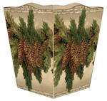 WB2609 - Antique Pinecone Wastepaper Basket