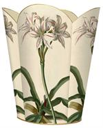 WB2652-Antique Lillies Wastepaper Basket