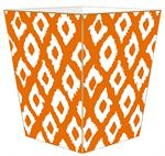 WB2823- Grande Ikat Orange Wastepaper Basket