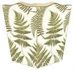 WB589-Ferns on Creme Wastepaper Basket
