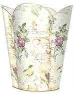 WB710-French Watercolor Wastepaper Basket