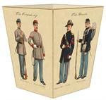 WB1869-Civil War Soldiers on Wastepaper Basket