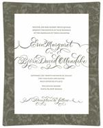 Custom Wedding Invitation Decoupage Plates