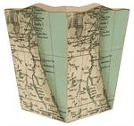 WB1851- Northeast Florida Antique Map Wastepaper Basket