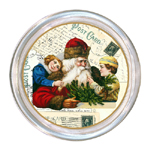 C94-Santa with Children on Postcards Coaster