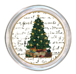 C1255 Christmas Tree on Writing Personalized Coaster