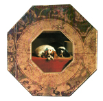 P137 -Cavalier King Charles Spaniel Decoupage Plate