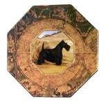 P312 -Scottish Terrier Decoupage Plate