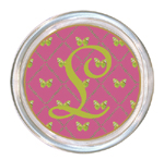 C1153-Fuchsia & Lime Butterfly Personalized Coaster