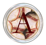 C1188-Antique Baseball Personalized Coaster