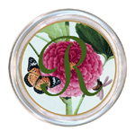 C344-Pink Peony & Butterfly Personalized Coaster