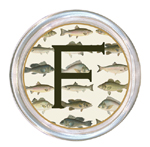 C579-Antique Fish Personalized Coaster
