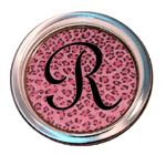 C803-Pink Leopard Personalized Coaster