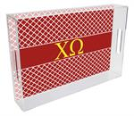 Chi Omega Lucite Tray