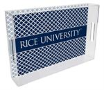 Rice University Lucite Trays