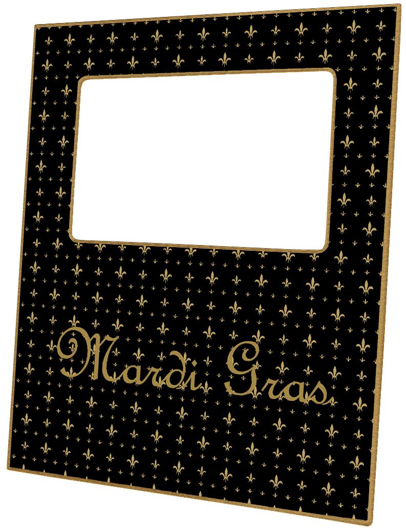 F1216 Black Gold Fleur De Lis Personalized Picture Frame