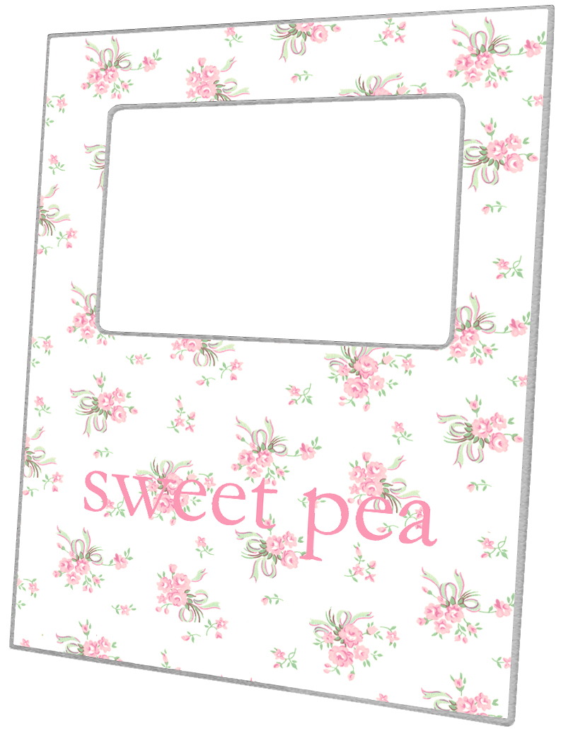 F1298-Sweet Pea Personalized Picture Frame