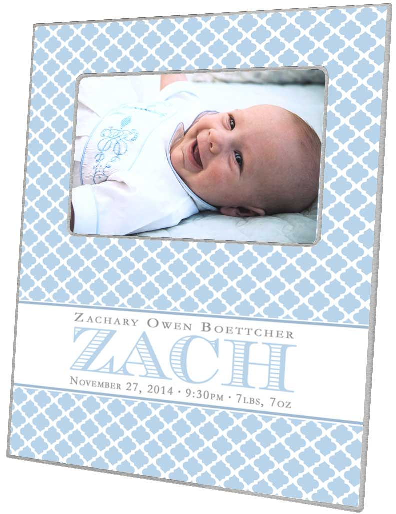 F8445 baby boy gift personalized picture frame negle Image collections