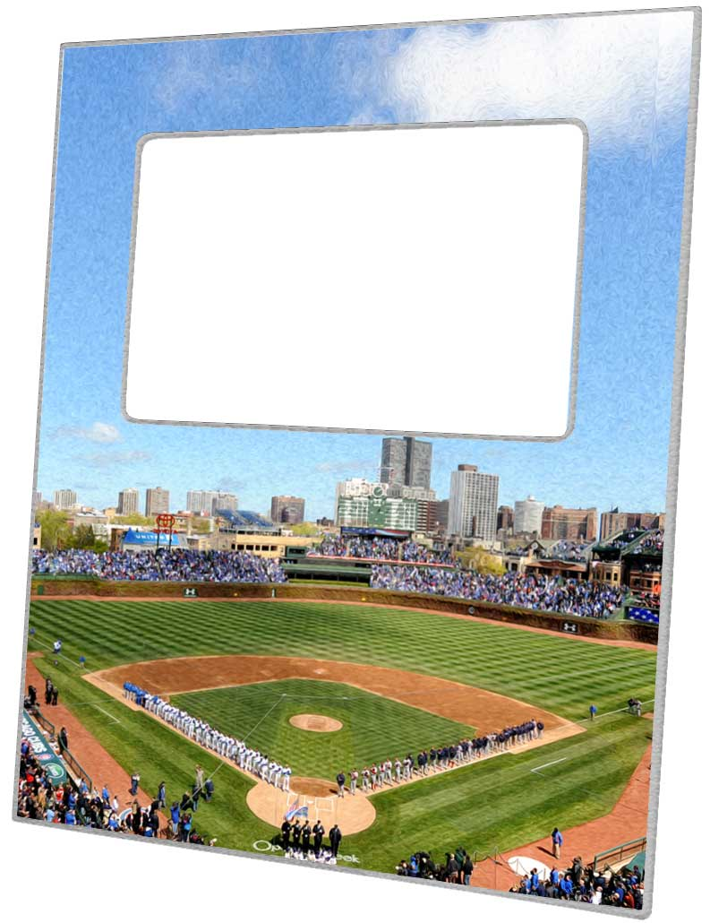 F8712-Chicago Cubs Wrigley Field Stadium Picture Frame