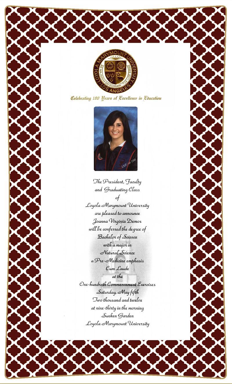 Graduation Invitation Decoupage Plate Sample 99