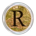 C1482-Antique Map of Rome Personalized Coaster