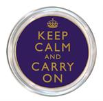 C1767 - Keep Calm and Carry On Purple Coaster