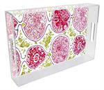 T8469-Custom Lucite Tray from Your Fabric or Wallpaper