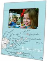 F2542-Virgin Islands Antique Map Picture Frame