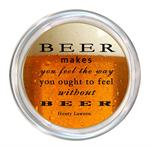 C8298-Beer makes you feel the way you ought to feel without beer.Henry Lawons Coaster