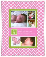 Birth Announcement Decoupage Plate Sample 019