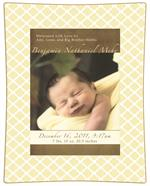 Birth Announcement Decoupage Plate Sample 007