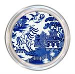 C1386 - Blue Willow Decoupage Coaster