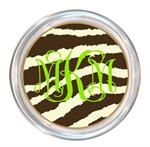 C1448-Brown Zebra Personalized Coaster