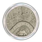 C1589 - Antique New Orleans Map Coaster