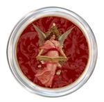 C2422 Christmas Angel on Red Scroll Coaster