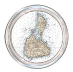 C2487- Block Island Nautical Chart Map Coaster