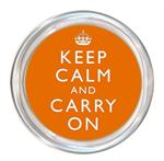 C2632 - Keep Calm And Carry On Orange Coaster