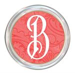 C2780 - Coral Paisley Personalized Coaster
