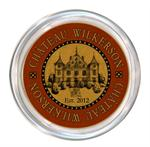C2889 - Personalized  Wine Coaster Red