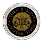 C2890-Chateau Personalized French Wine Coaster Black