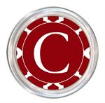 C2982 - Red Chelsea Grande Personalized Coaster