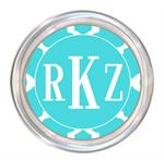 C2983 - Turquoise Chelsea Grande Personalized Coaster