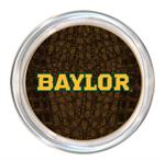 C3100-Gold Baylor on Brown Crock Coaster