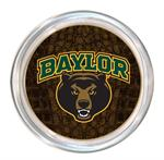 C3101-Baylor with Bear Head on Brown Crock Coaster