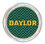 C3116-Gold Baylor Green Chevron Coaster