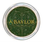 C3121-Baylor on Green Damask Coaster