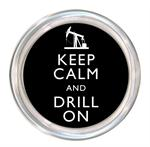 C8037-Keep Calm and Drill On Coaster On Shore