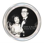 C8110-Custom Coaster Silver Trim from your Photograph