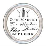 C8314- One Martini Two Martini  Three Martini  Floor Coaster