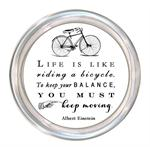 C8252-Life is like riding a bicycle..Albert Einstein Quote Coaster